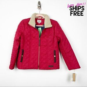 NWT Bass Red Quilted Jacket MP #0859